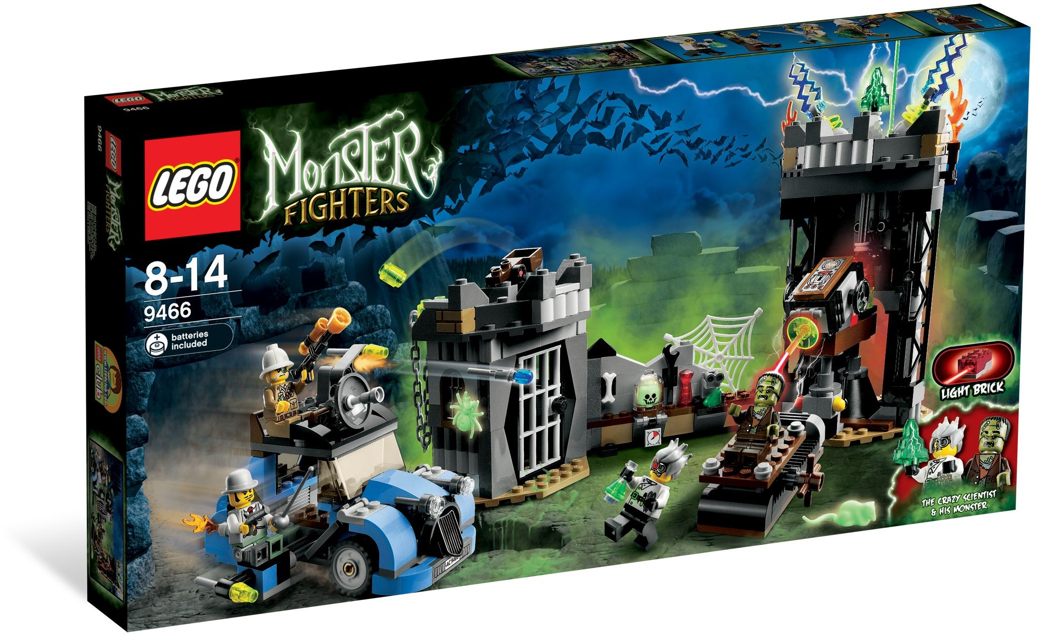 Lego Monster Fighters 9466 Profesor a Frankenstein