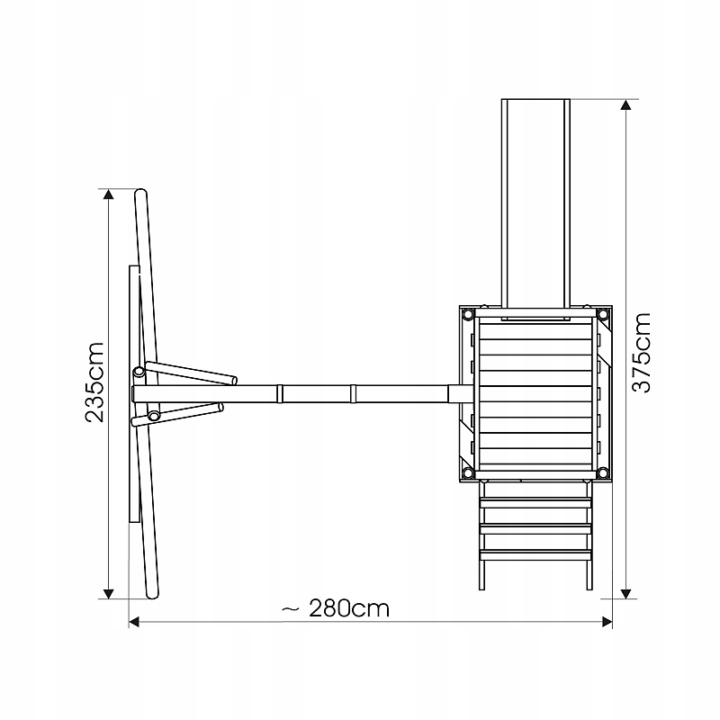 Ihrisko FRANEK Swing Slide Tower Skladá sa z rebríka Single swing Sandbox Slide