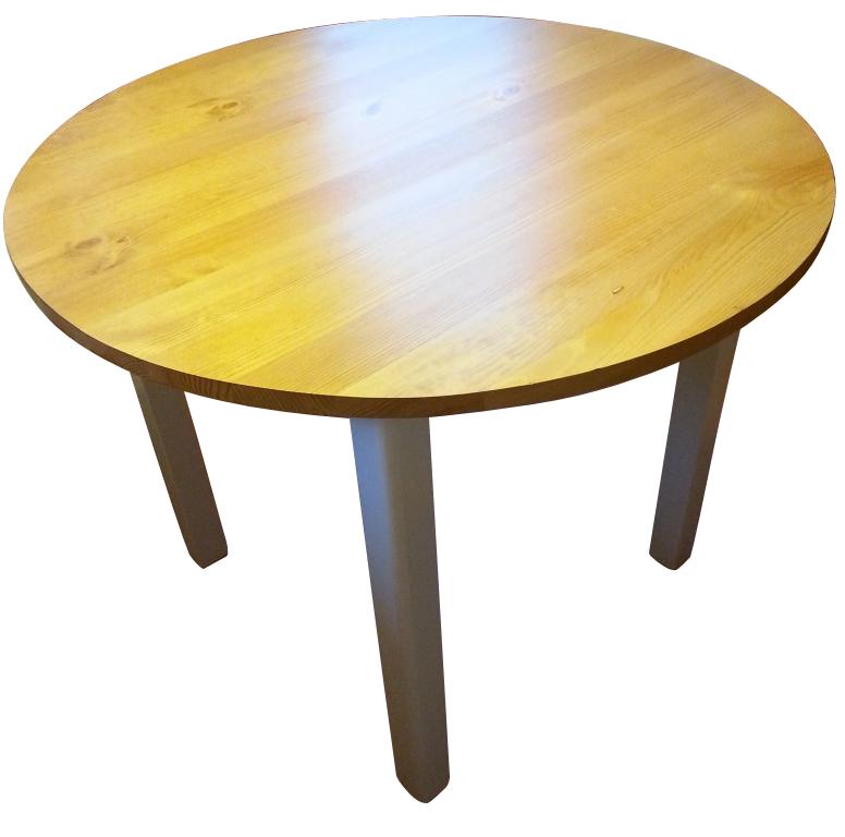 Pevný okrúhly stôl dia. 80cm stôl FARBA ZADARMO