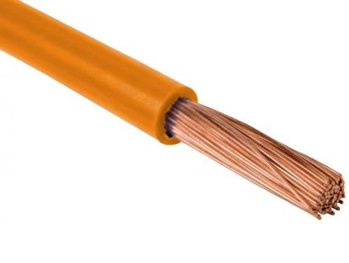 Провод одножильный 0,5мм2 (оранжевый)