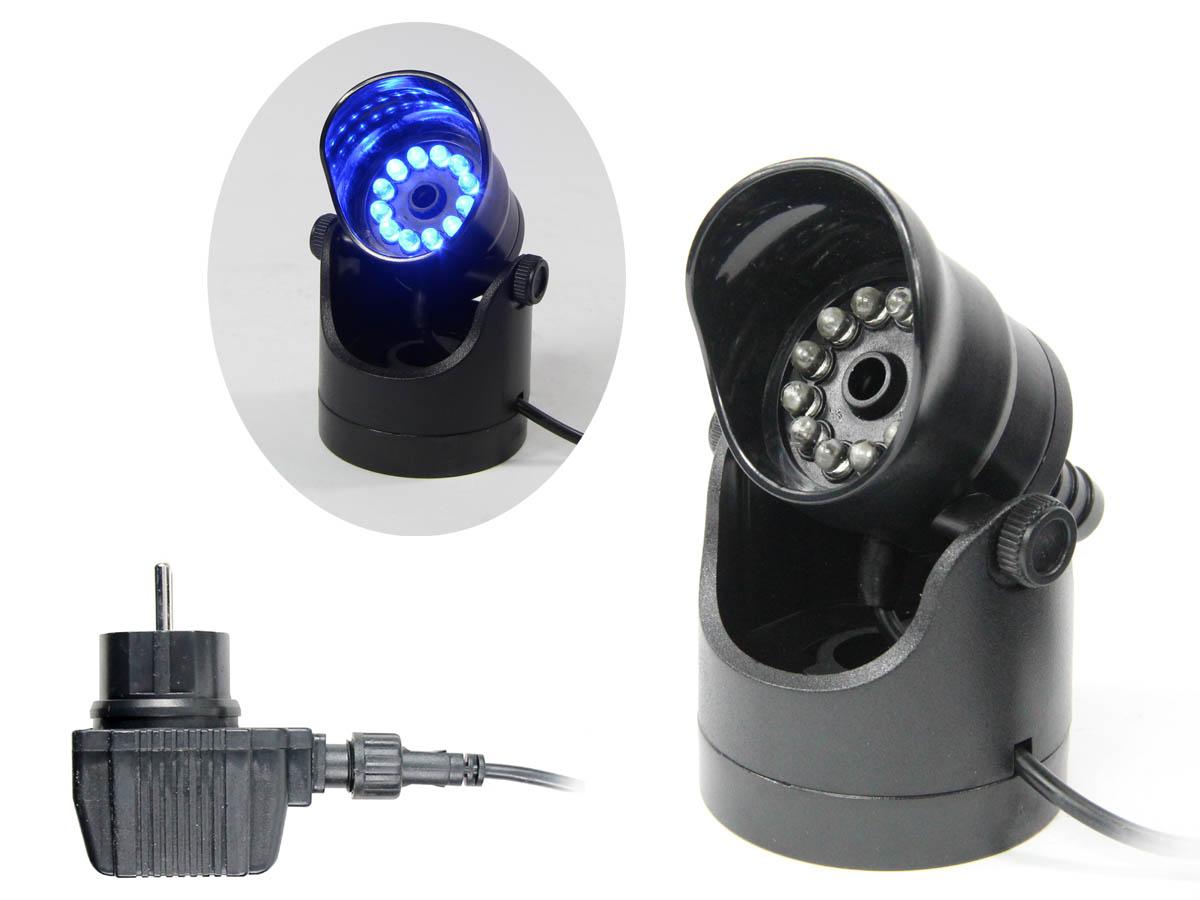 LAMPA-DYSZA LED 1,5W NIEBIESKI SKACZĄCY STRUMIEŃ