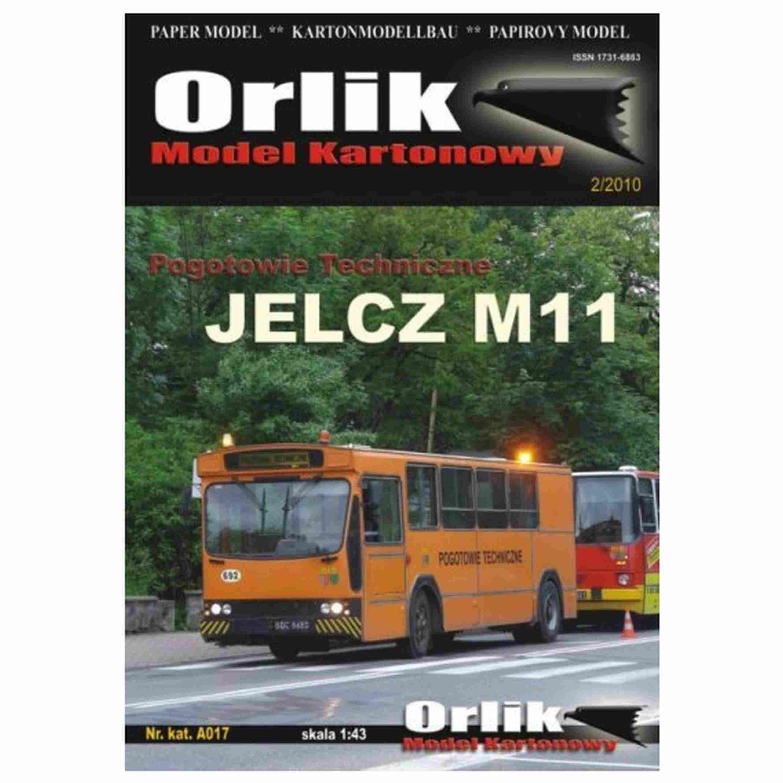 Orlik A017 - Ambulancia Jelcz M11 1:43