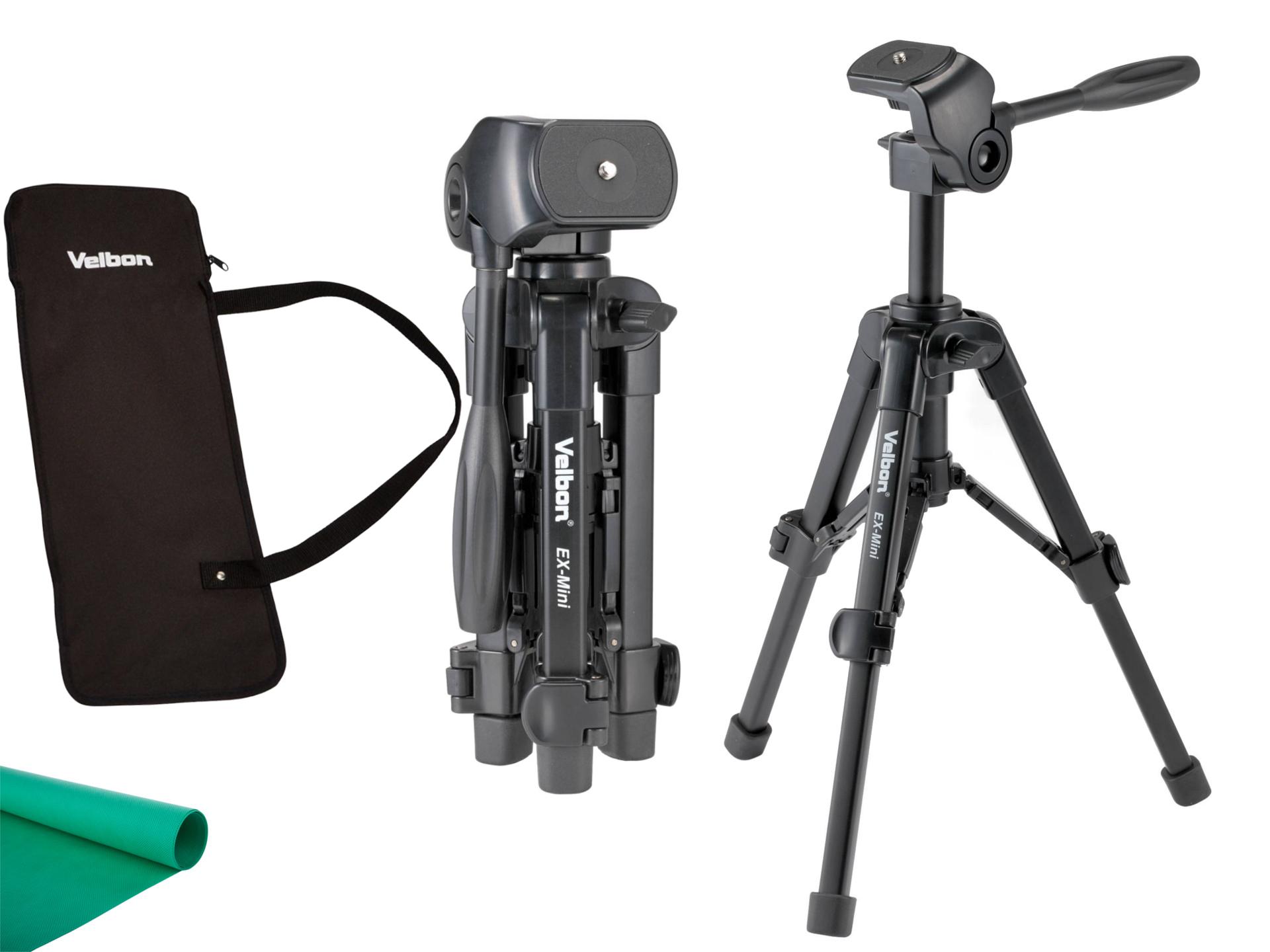 Ex-Mini Velbon Light Malý fotoaparát Tripod, Makro