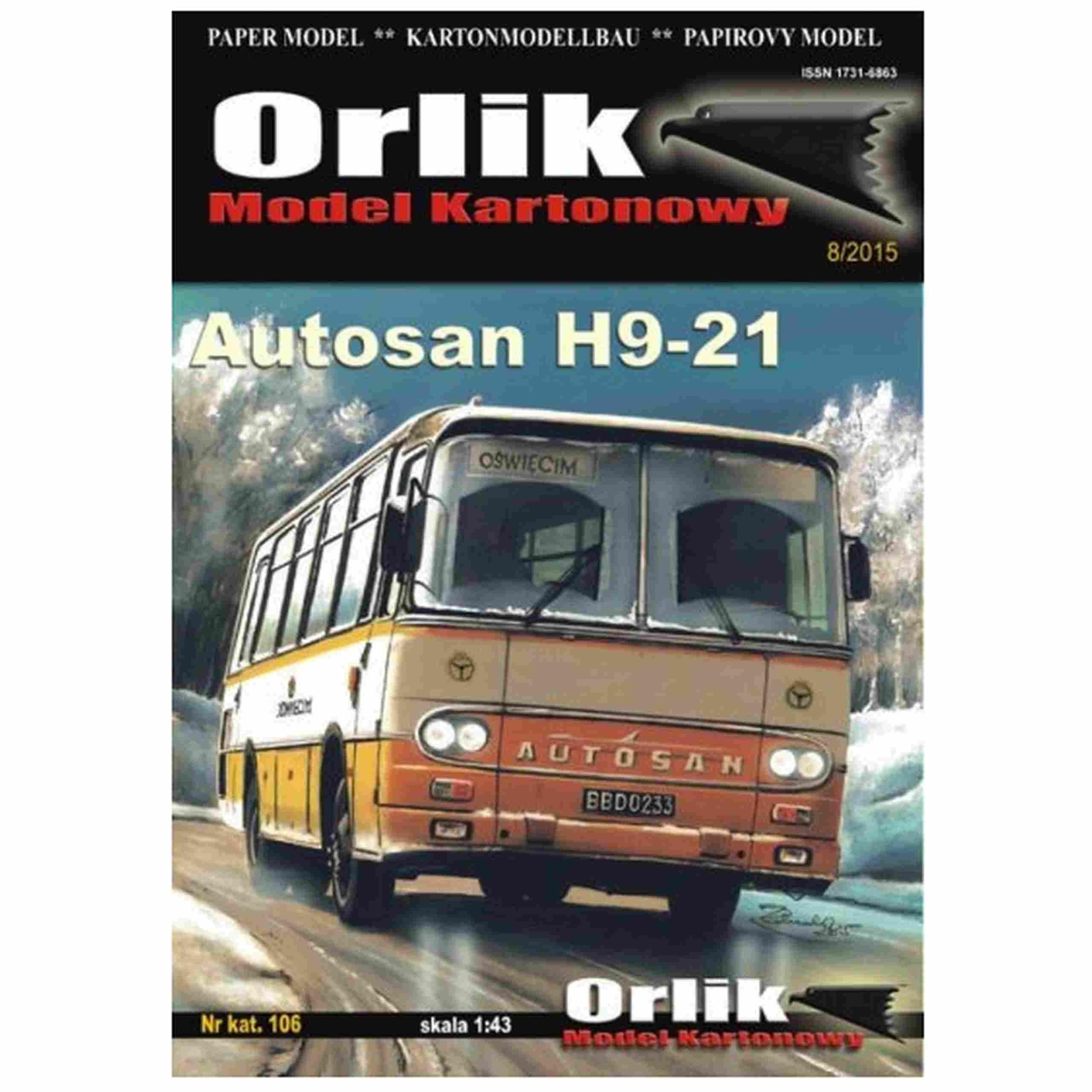 ORLIK 106 - Poľský autobus Autosan H9-21 1:43