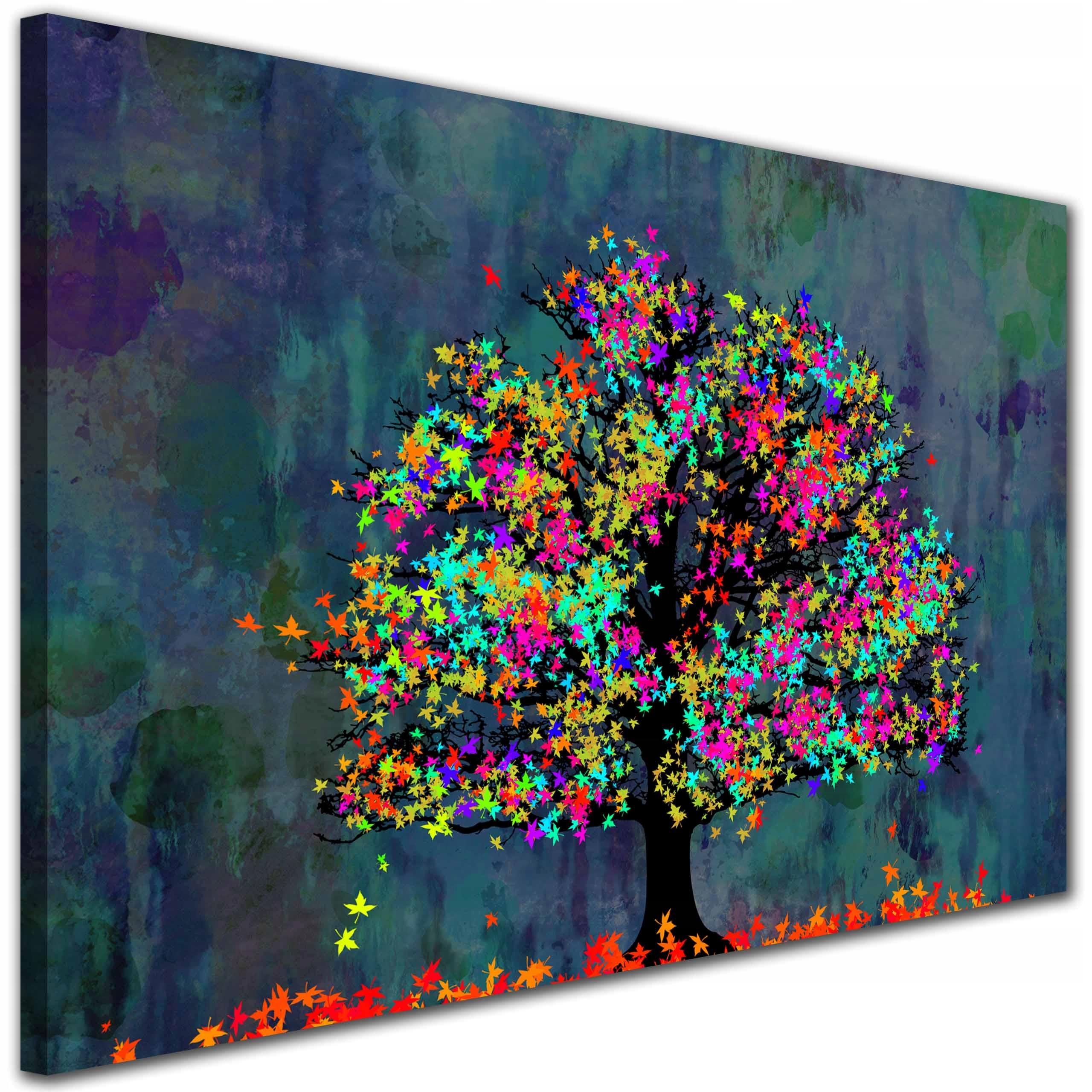 Изображение для салон Дерево ЦВЕТНОЙ листья Синий