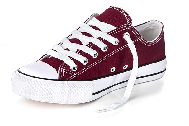 Buty sportowe Trampki tenisówki Bordowe q159