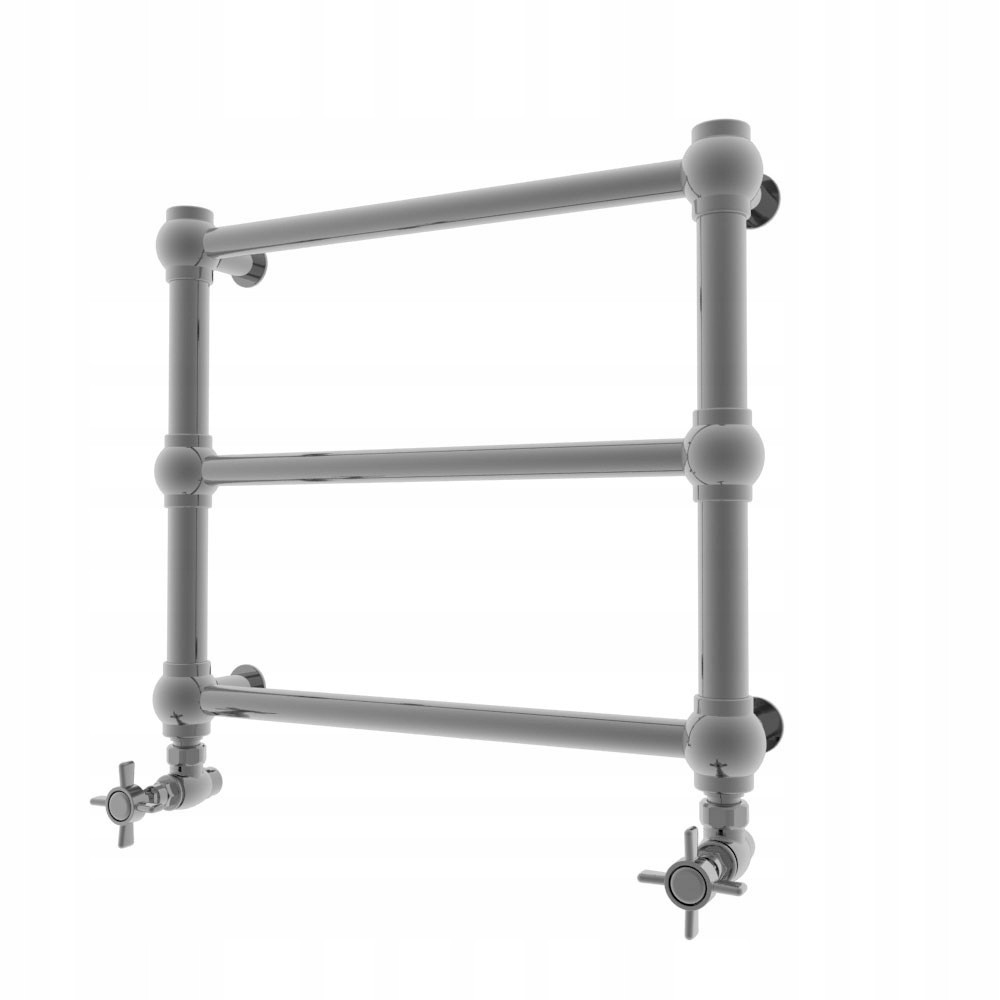 radiátor RETRO 43 x 50 pochrómovanej a ventily hviezda