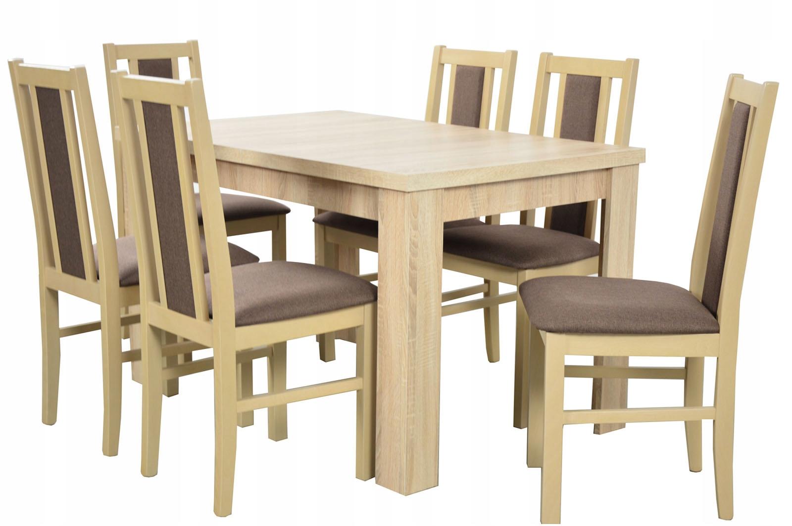 комплект стол раздвижной 160 и 6 ДЕРЕВЯННЫХ Стульев