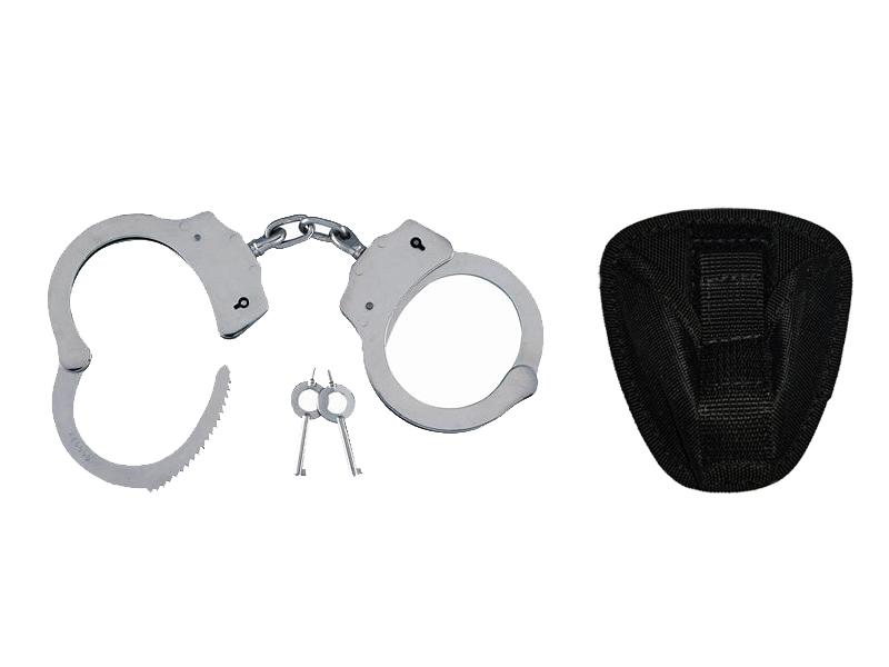 Купить СТАЛЬНЫЕ наручники SILVER G23 LCH-101 + кобура на Otpravka - цены и фото - доставка из Польши и стран Европы в Украину.