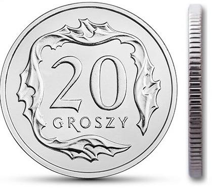 20 gr groszy 1991 mennicza mennicze rzadka