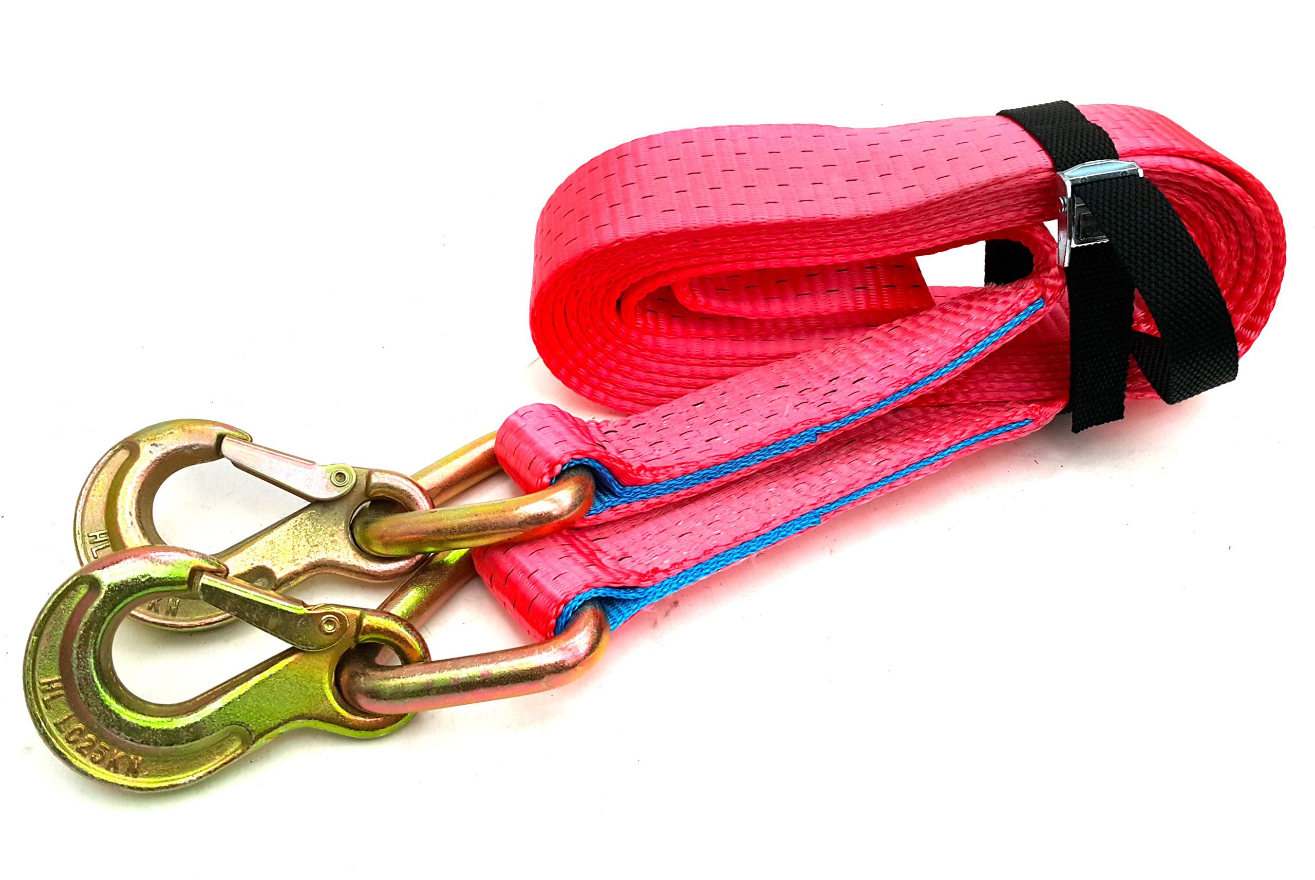 Веревка Веревка Буксировочная лента 7.5t Лента крюк + крюк