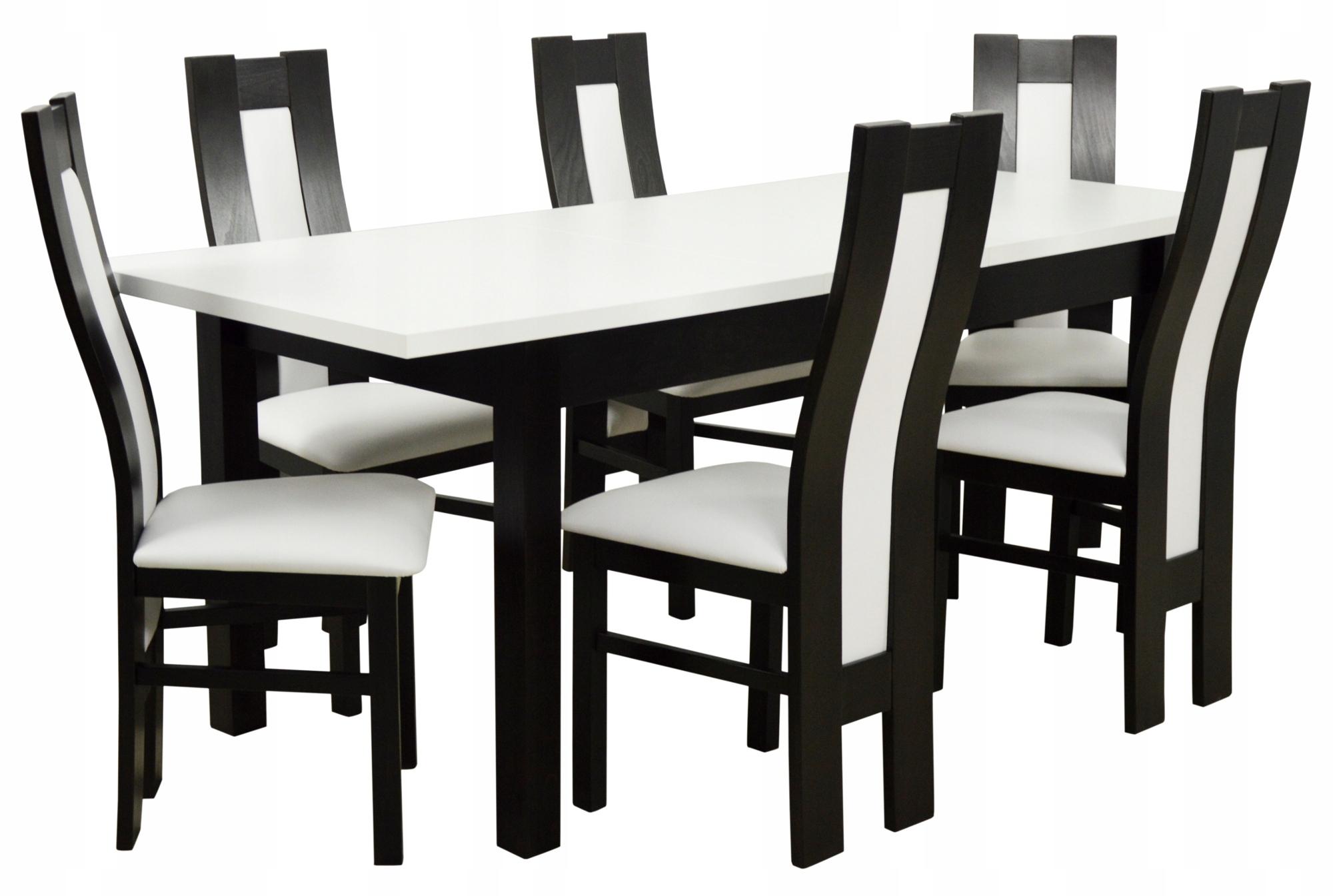 84f192e5b76c Kuchynský stôl + 6 stoličiek Wenge dosky biele DREVO