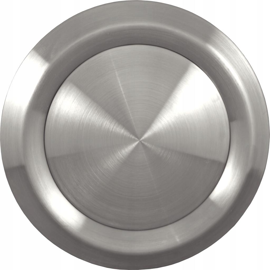 Anemostat nawiewno wywiewny 100 mm stal chrom inox