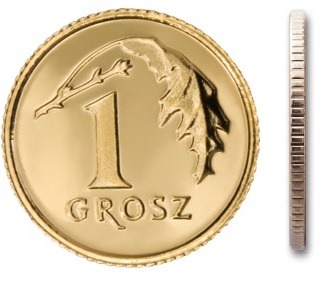 Монета чеканки 1 пенни 2000 года с мешочком