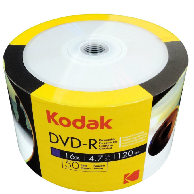 Item KODAK DVD-R 4.7 GB 50pcs printable PRINTABLE