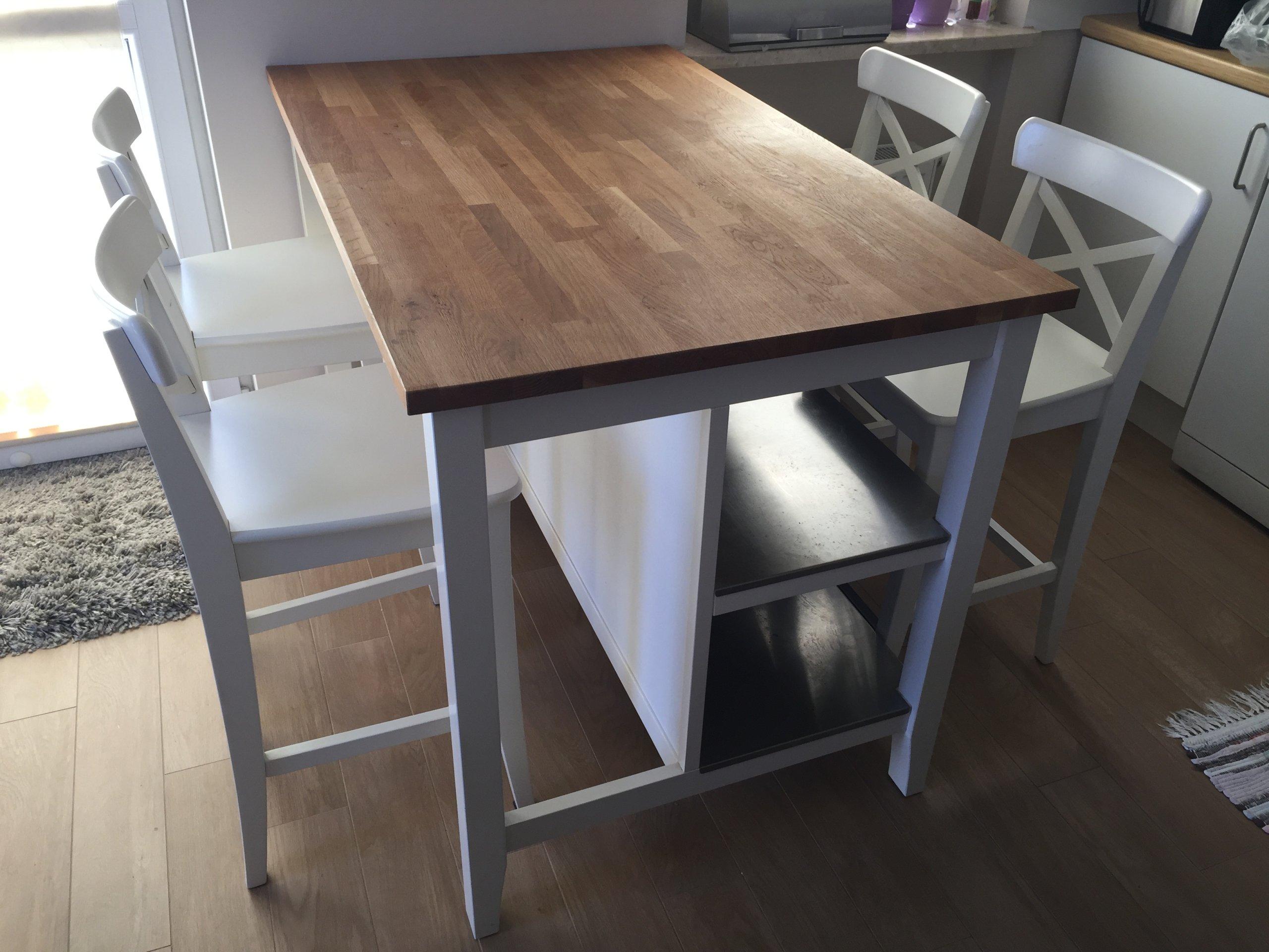 Wyspa Stół Barek Ikea4 Krzesła śliczne Do Kuchni