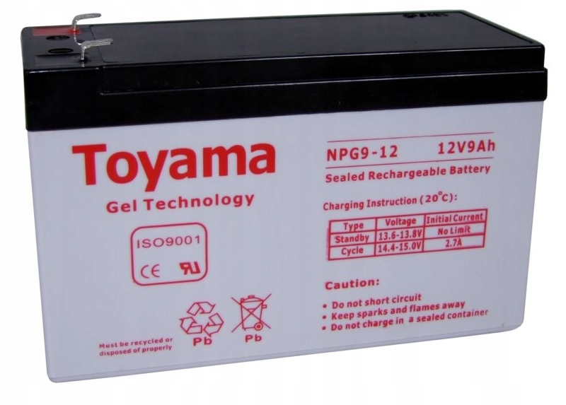 Akumulator żelowy TOYAMA 9Ah 12V