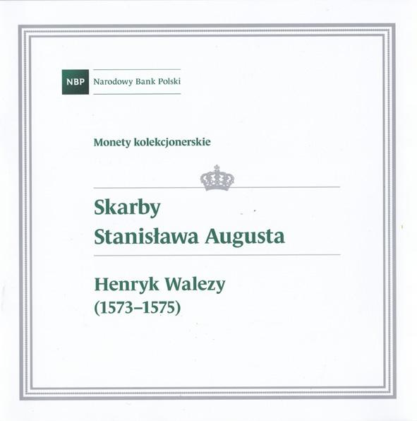 Folder do monety z serii Skarby Stanisława Augusta