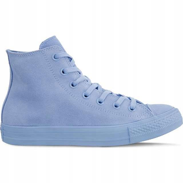 Trampki damskie niebieskie Converse młodzieżowe z wysoką