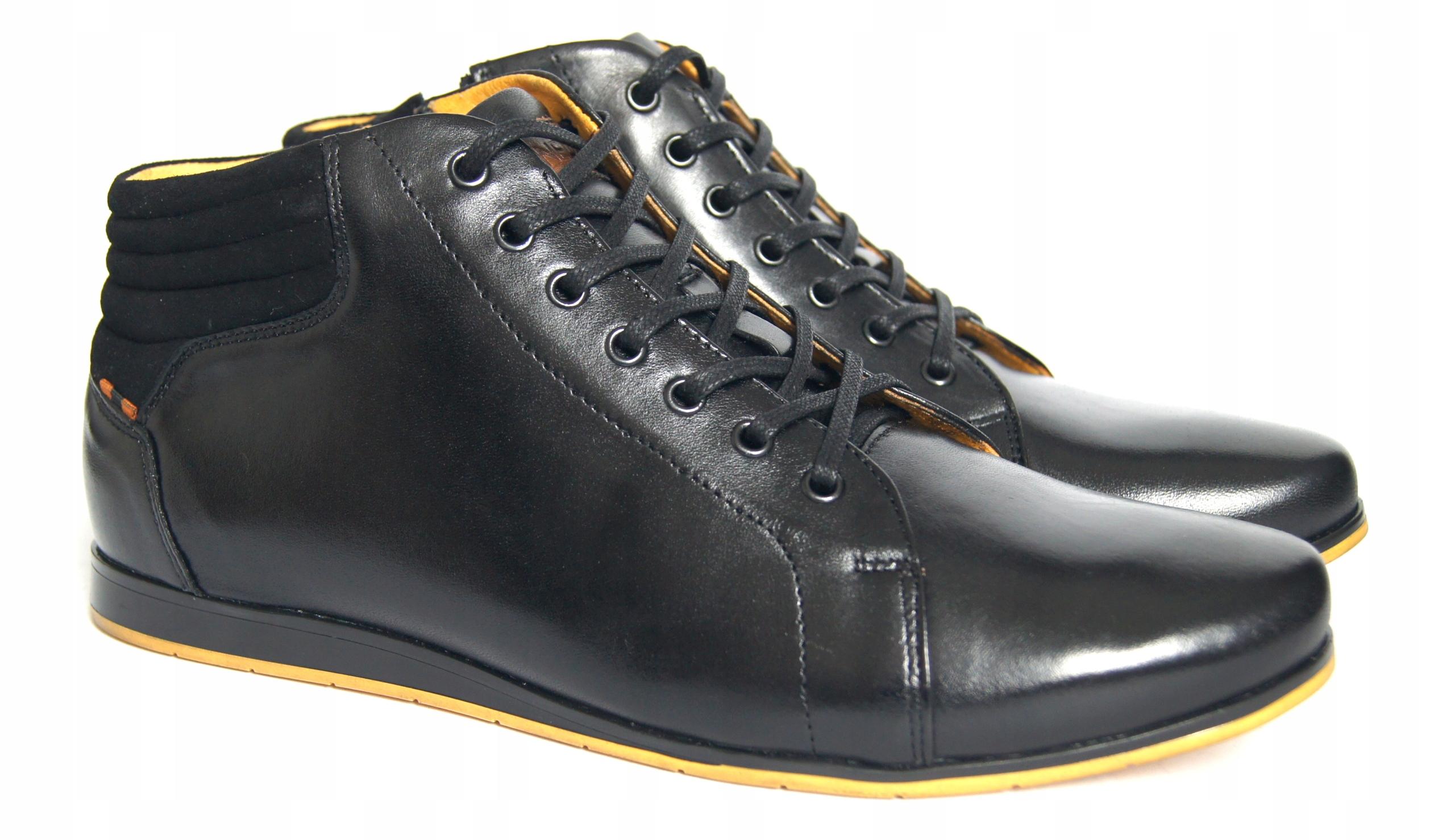 new styles 00d0d 6d083 ZIMOWE trzewiki TRAMPKI męskie skóra POL M598 r46 (7629575631)