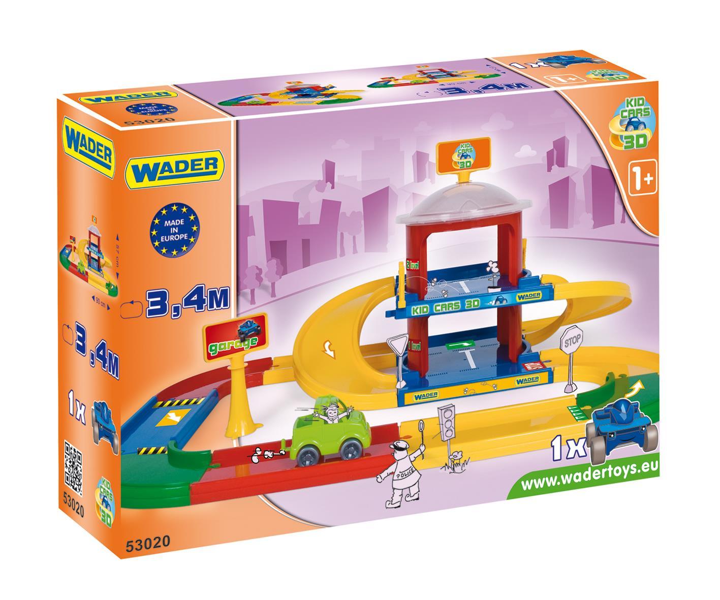 Wader Kid Cars 3d Garaż 2 Poziomowy 53020 7316472389 Oficjalne