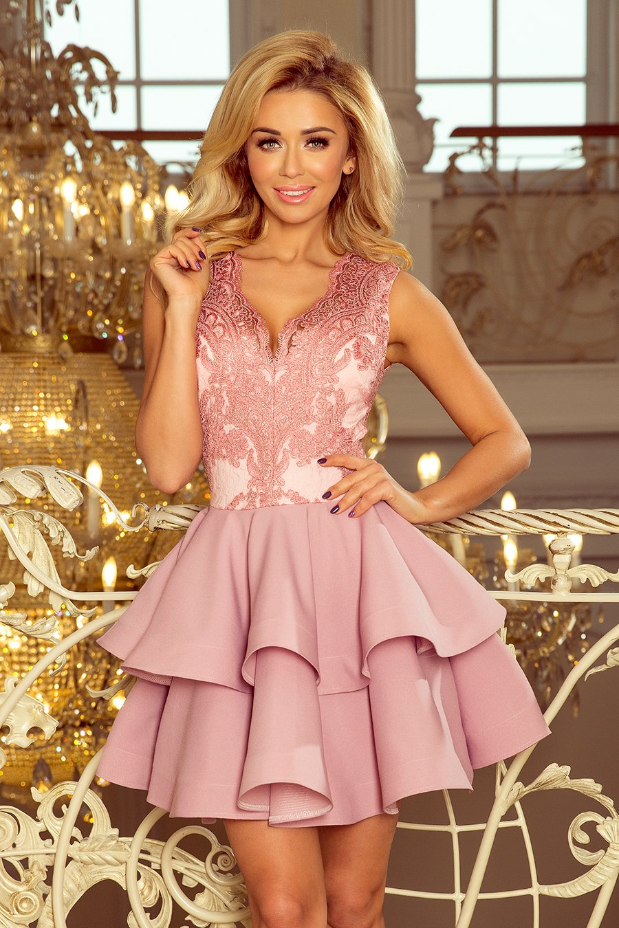 178af3484f 200-5 CHARLOTTE sukienka na wesele różowa L 40 - 7341951721 ...