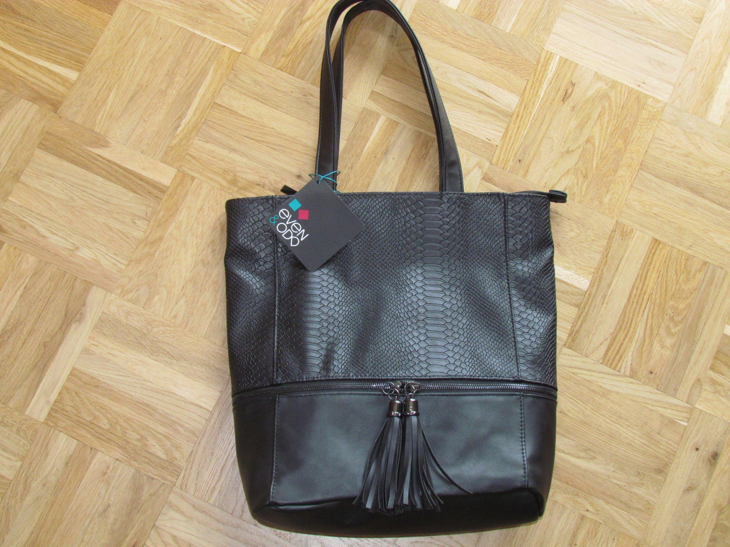 213b1fa76a565 Torebka damska czarna firmy Even Odd , NOWA - 7664898706 - oficjalne ...