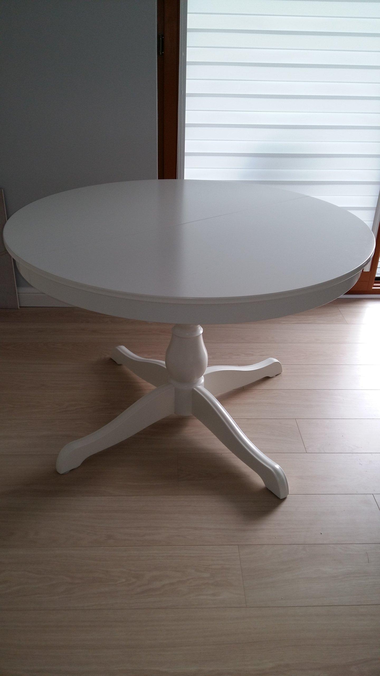 Stół Ikea Ingatorp Biały Okrągły Rozkładany 7409431759 Oficjalne