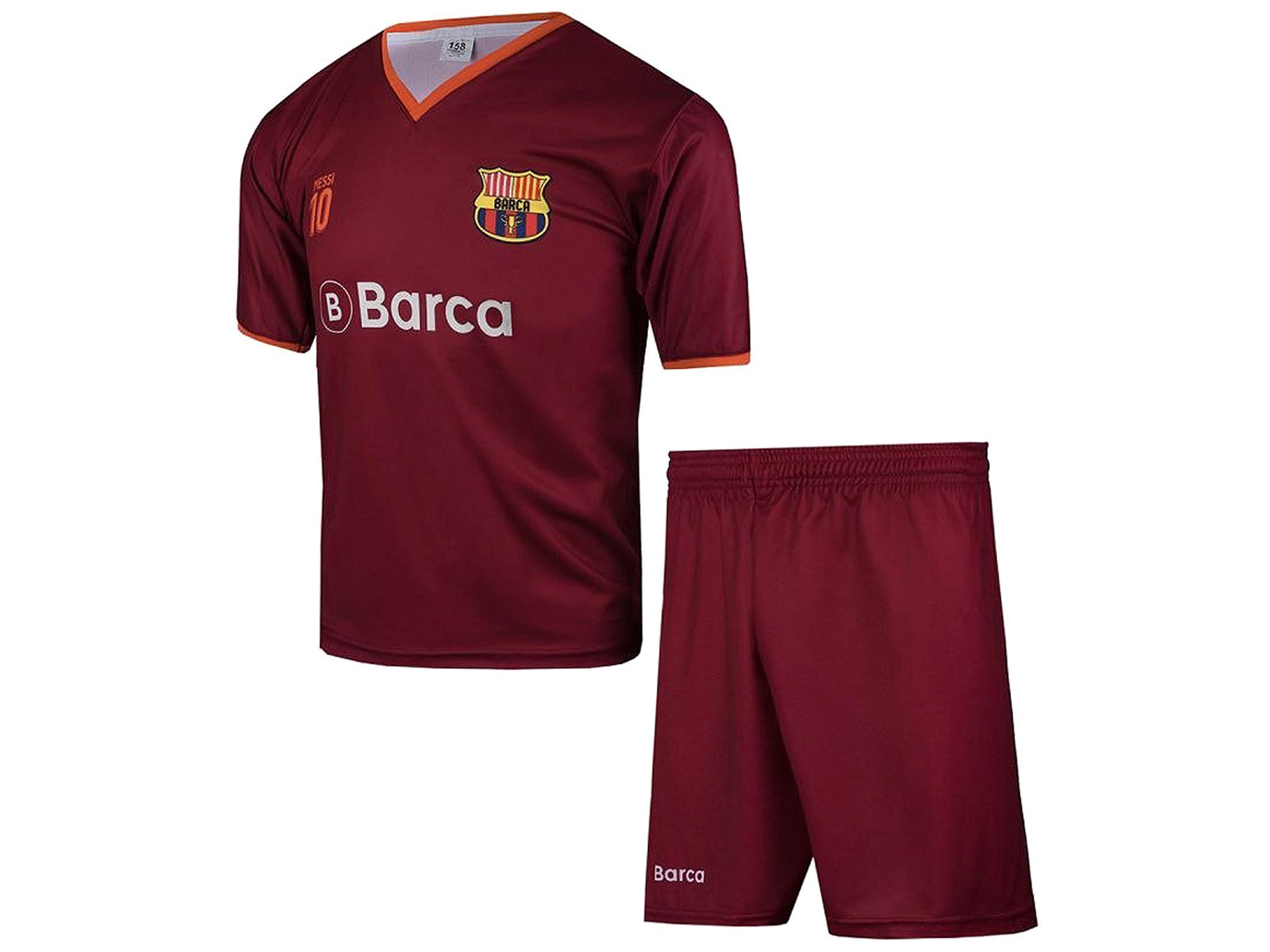 23f1efe56e5ff5 Komplet piłkarski Replika BARCA MESSI - 128 - 7258556989 - oficjalne ...
