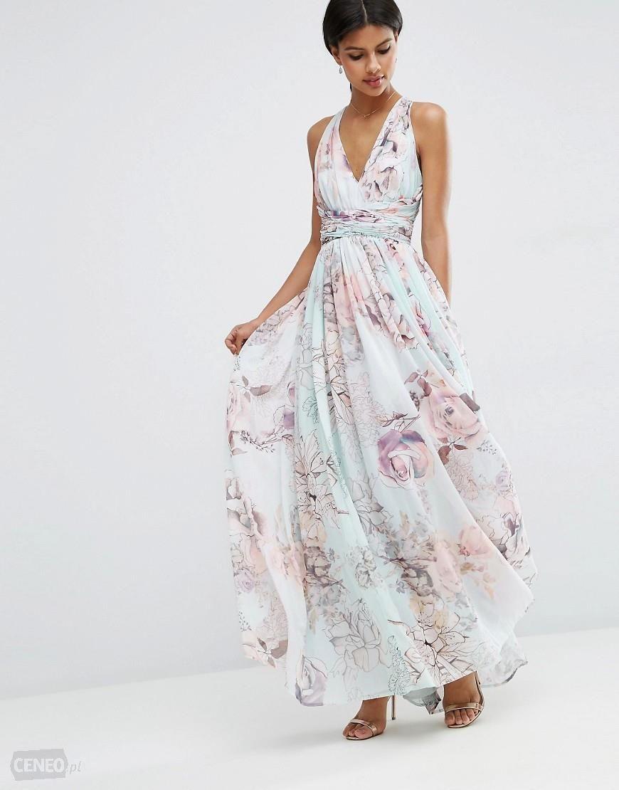 86ae00620edfd ASOS sukienka w kwiaty na wesele długa 38 - 7274674035 - oficjalne ...
