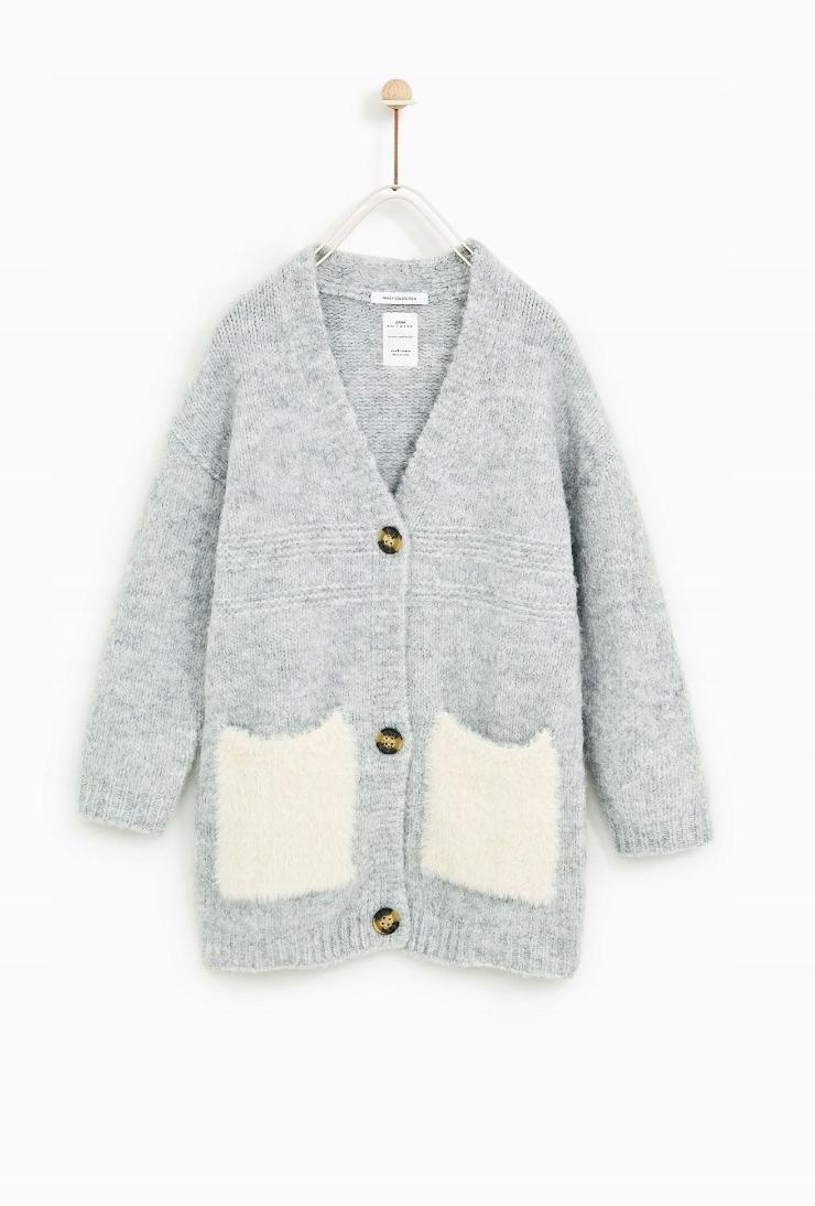 35e3ec4f0e755f Zara 116 sweter kardigan ciepły - 7698490364 - oficjalne archiwum ...