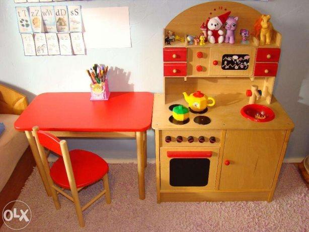 Kuchnia Drewniana Dla Dzieci 7475643773 Oficjalne Archiwum Allegro