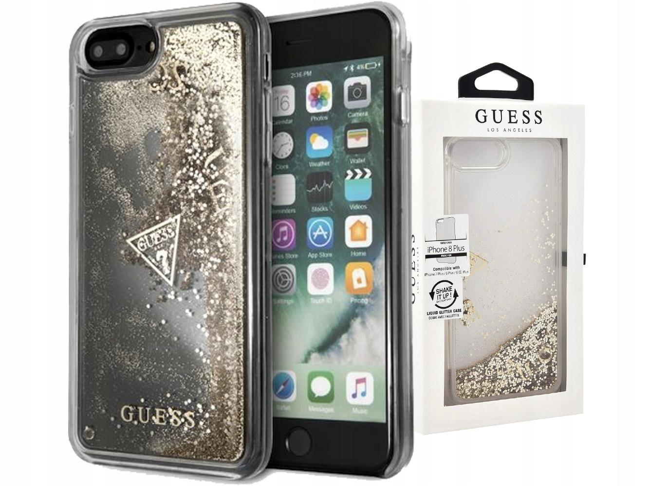 new style 8ac14 5ec39 Guess Glitter | Etui, case | iPhone 8/7/6s/6 Plus - 7438521630 ...