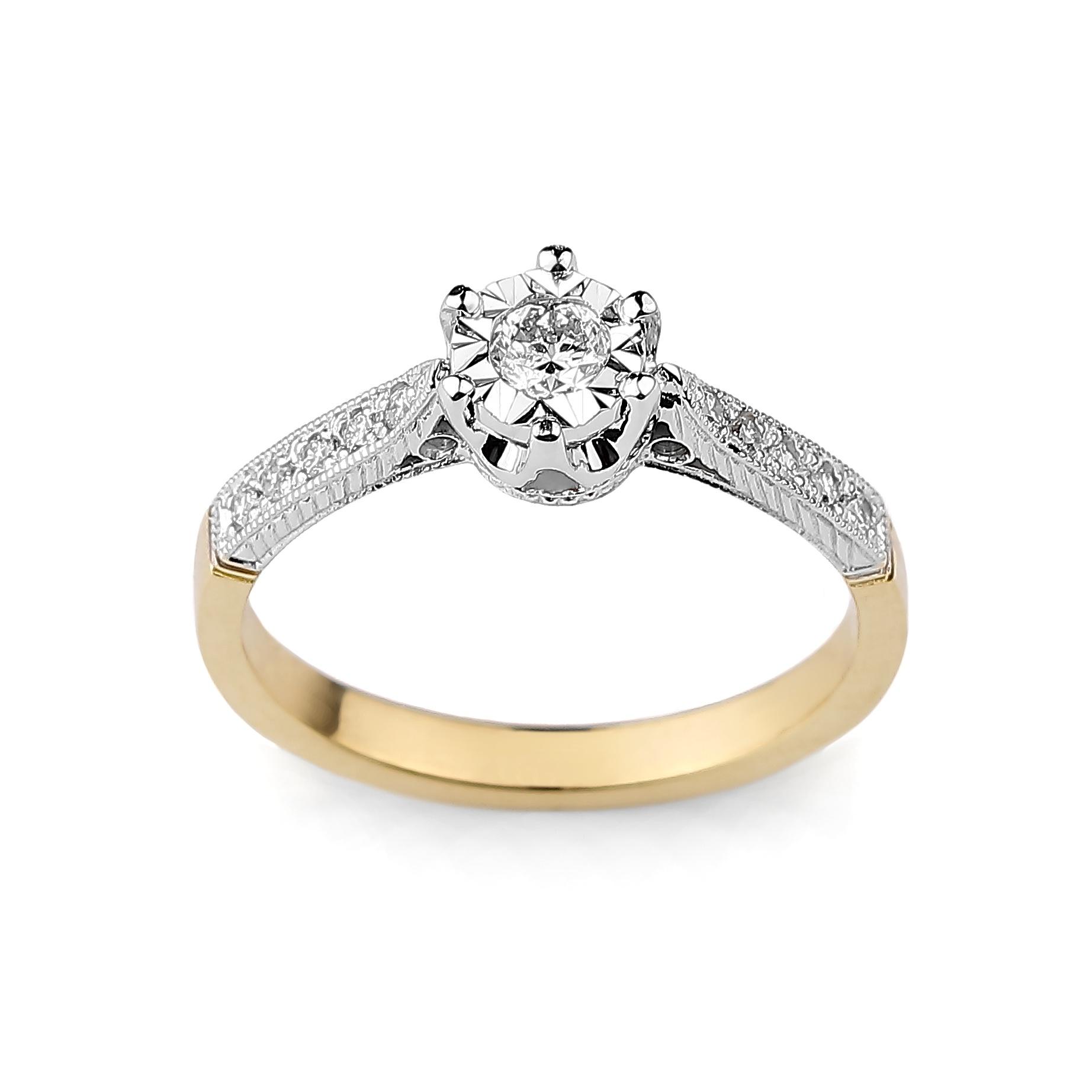 Pierścionek Zaręczynowy Diamor T28305 7285256218 Oficjalne