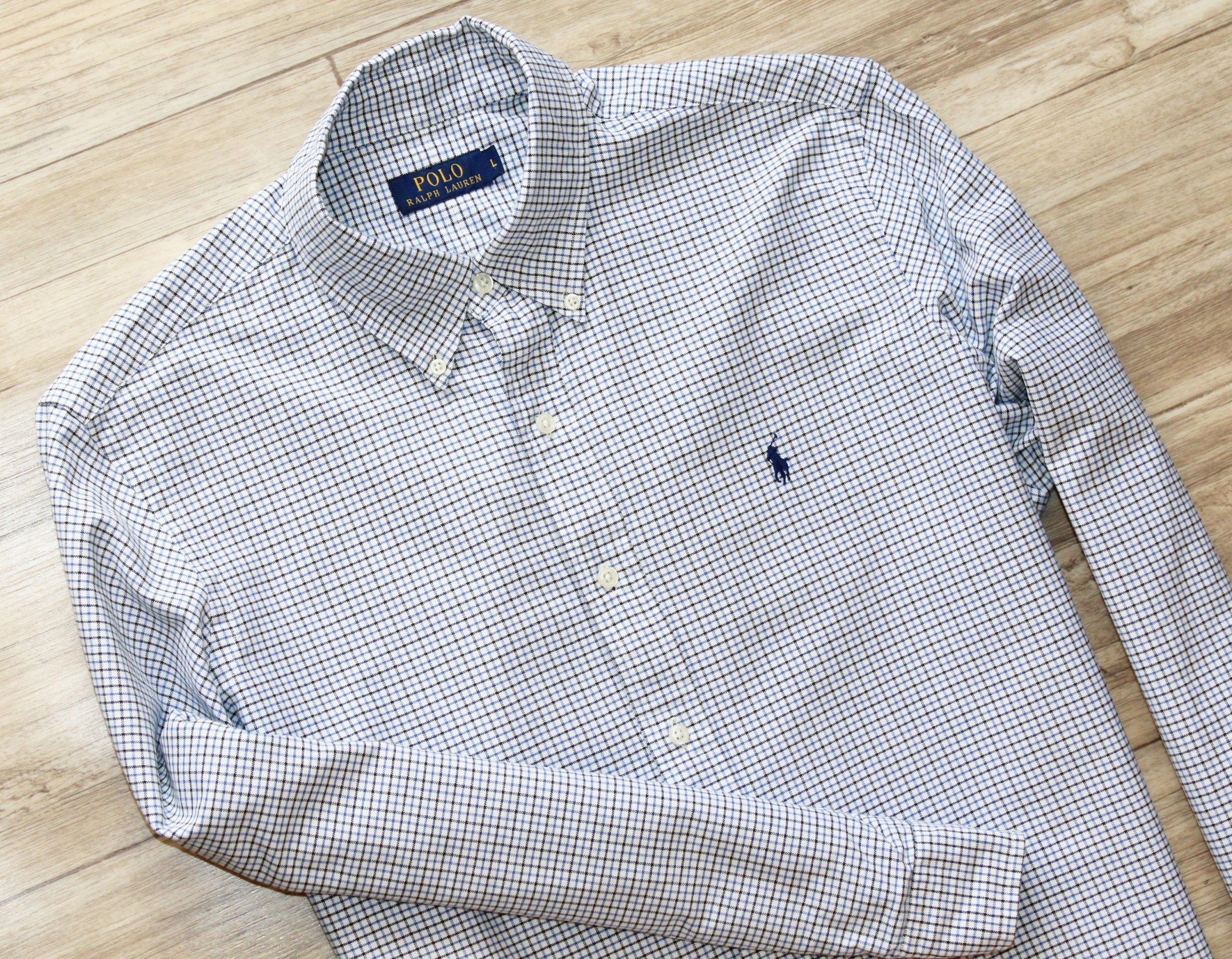 776a0c925 Koszula Ralph Lauren L XL logo męska idealna - 7285569284 ...