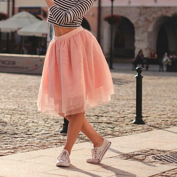 3a87c800 Różowa/brzoskwiniowa tiulowa spódnica Cropp - 7389815264 - oficjalne ...