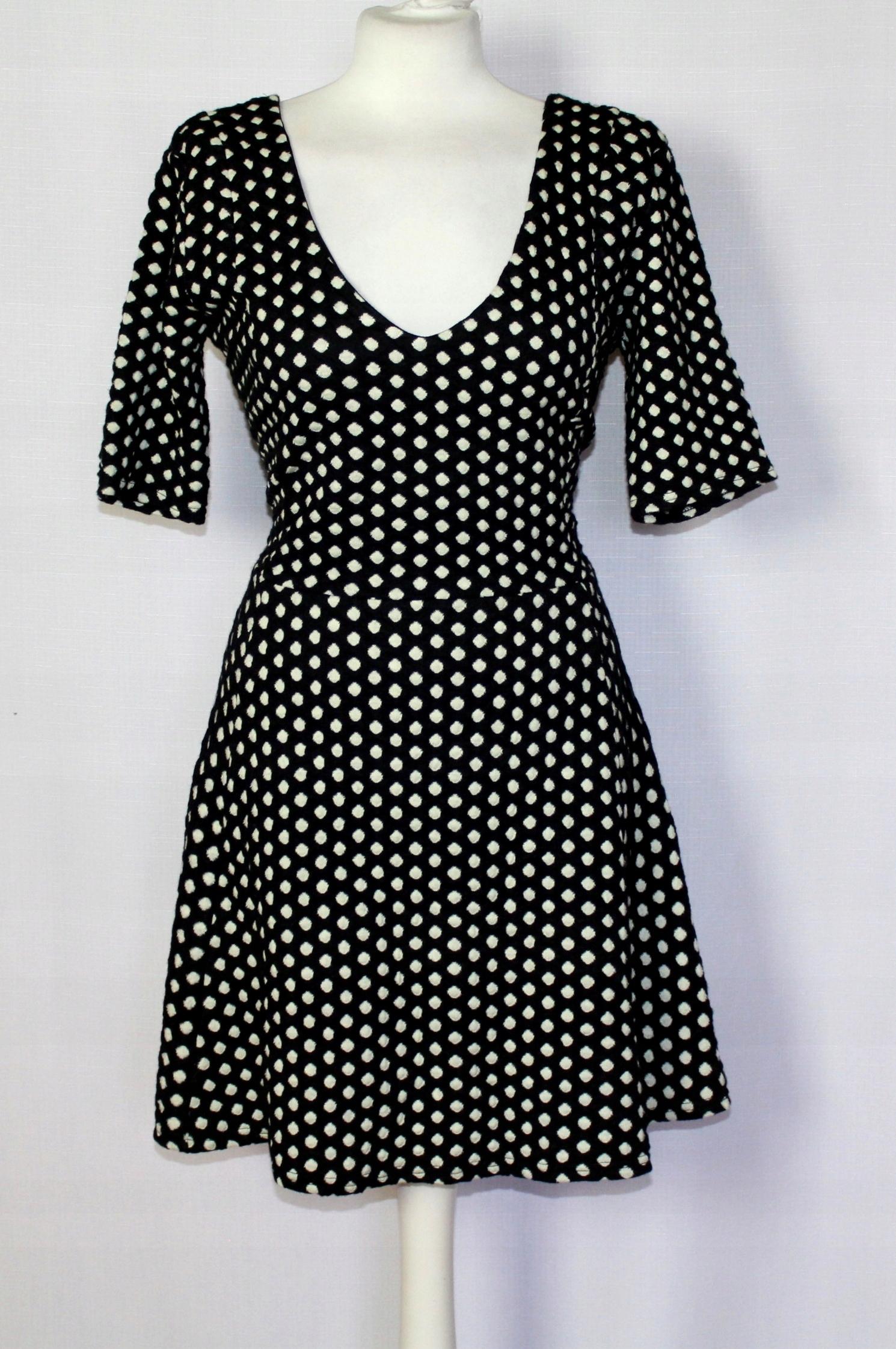 330e4ea20e Czarna sukienka w grochy pin-up girl 44 XXL 16 - 7559153587 ...