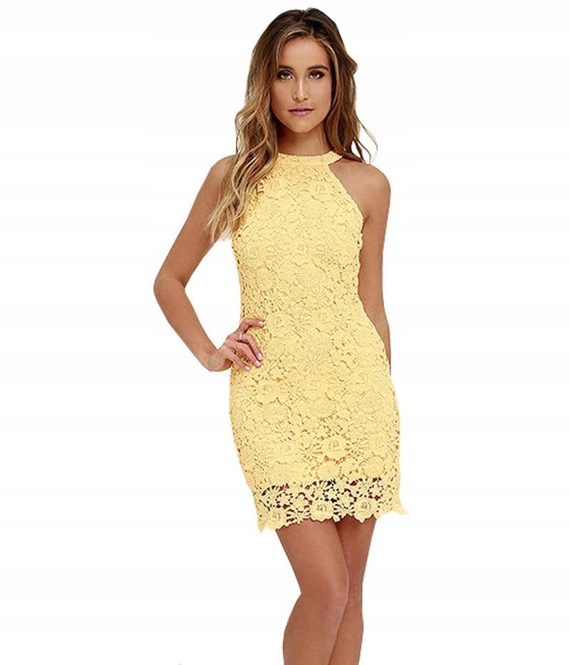 1ee5f8eec3 Sukienka mini koronkowa ażurowa lato 5 kolorów M - 6743726056 ...