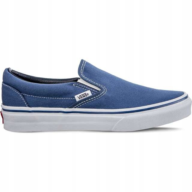 Białe Niebieskie Tekstylne Buty Vans rozmiar 36,5