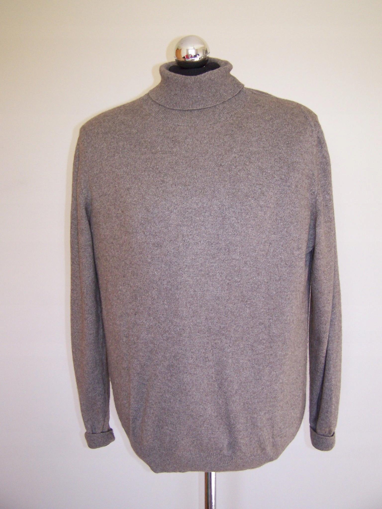6dc08316a1f30 Luciano~~ Luksusowy Sweter Golf Jedwab Kaszmir XL - 7647518630 ...