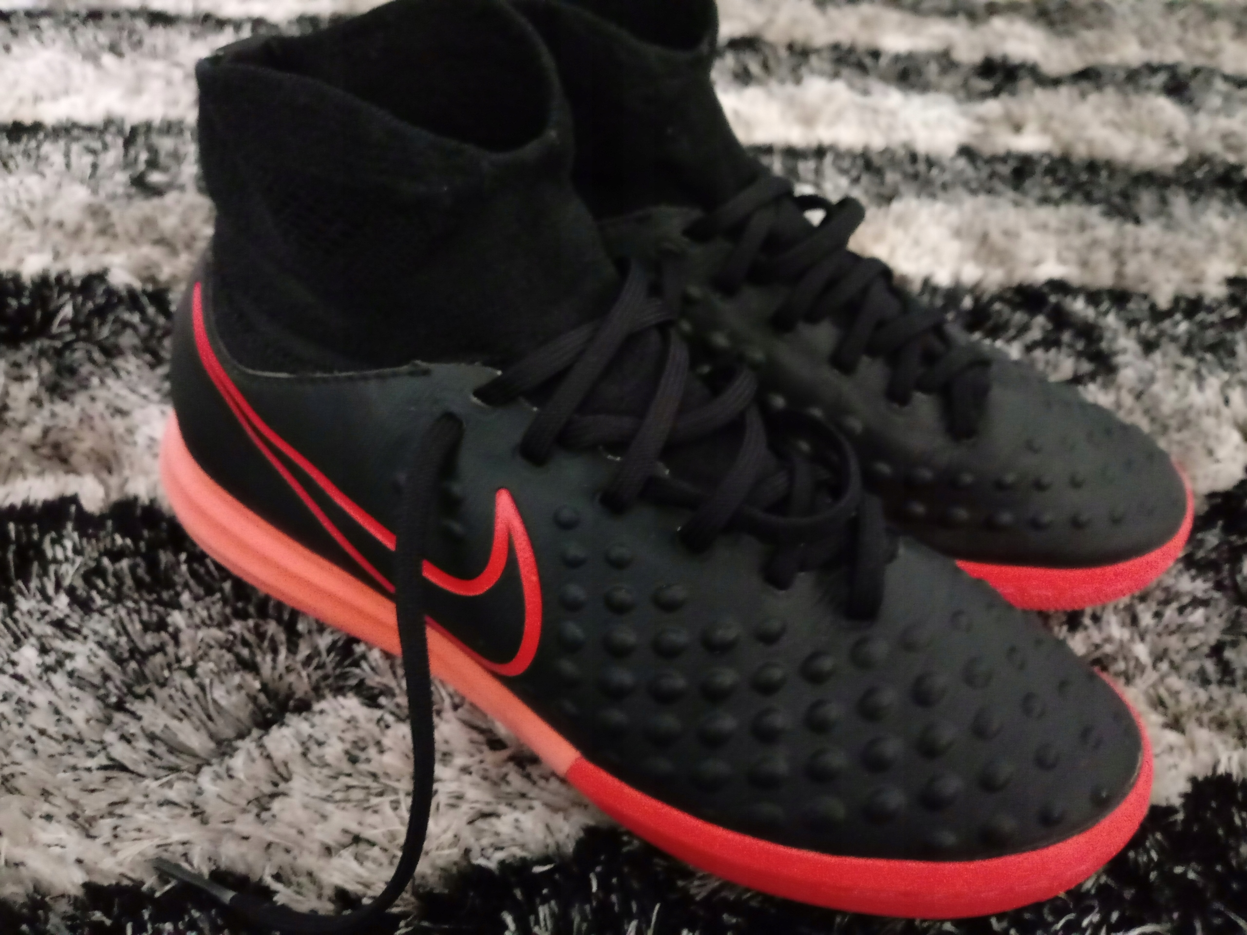 Nike Magista Opus II FG Black Red Soccer Cleats Shoes 12