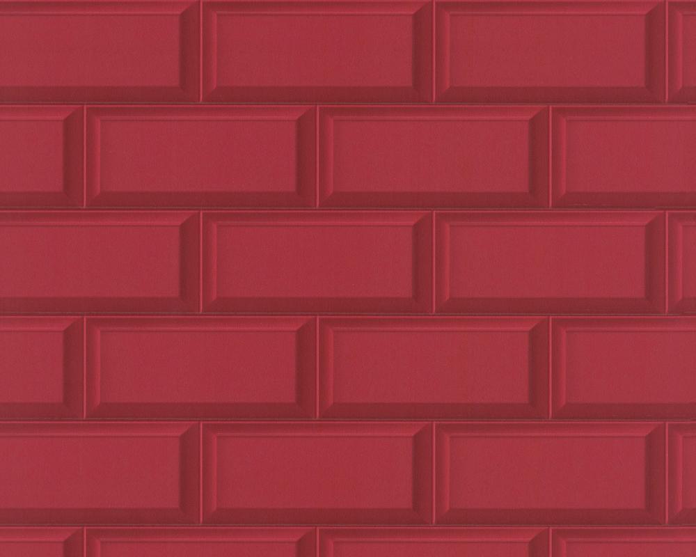 Tapeta Winylowa Do Kuchni łazienki Czerwone Płytki