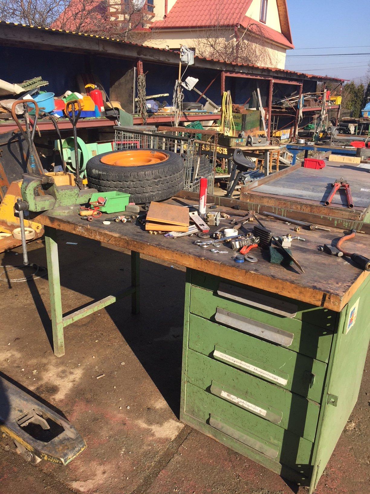 Zupełnie nowe stół warsztatowy z imadłem niemiecki - 7264017608 - oficjalne JX61
