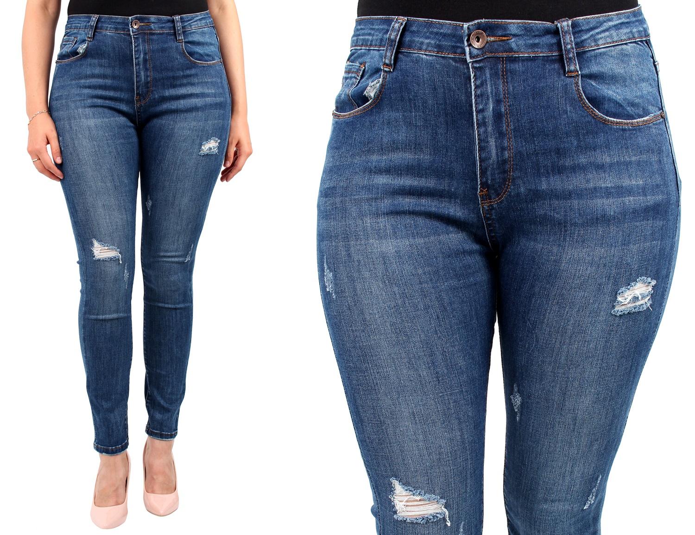32e14ffd7834 LAULIA DAMSKIE spodnie JEANSY duże rozmiary 42 XL - 6920159958 ...