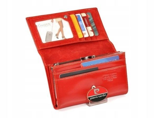 e960e3e929b66 Portfel damski PIERRE CARDIN 455 czerwony + GRAWER - 7470798239 ...