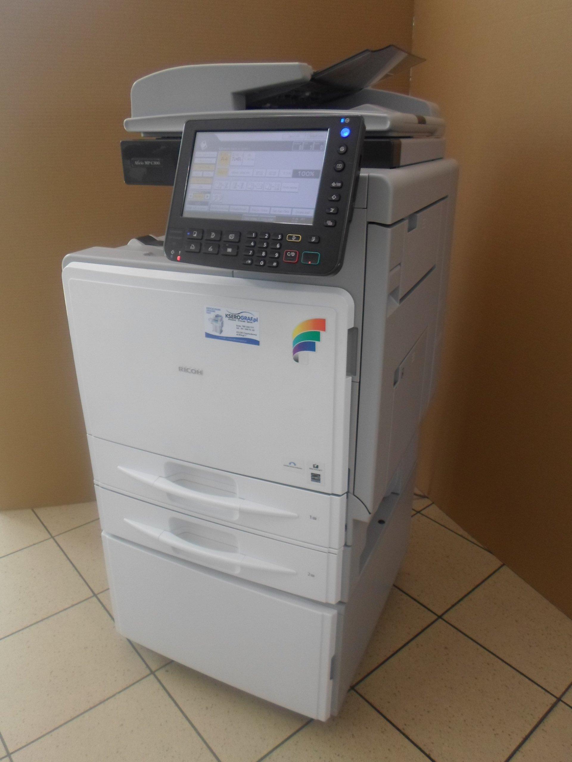 Kolor druk skan MPC300 -przebieg 15 tys. gwarancja