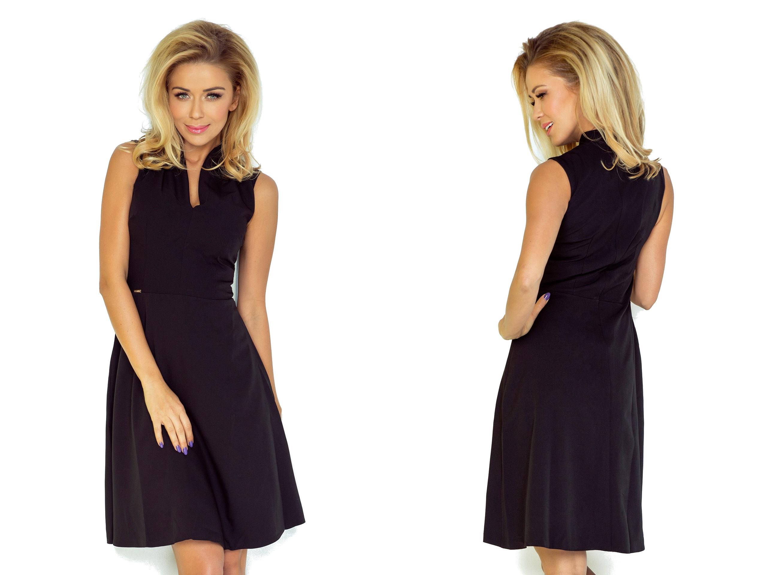 dd0409962a MODNA Czarna Sukienka NA KAŻDĄ OKAZJĘ 133-2 XL 42 - 7266216523 ...