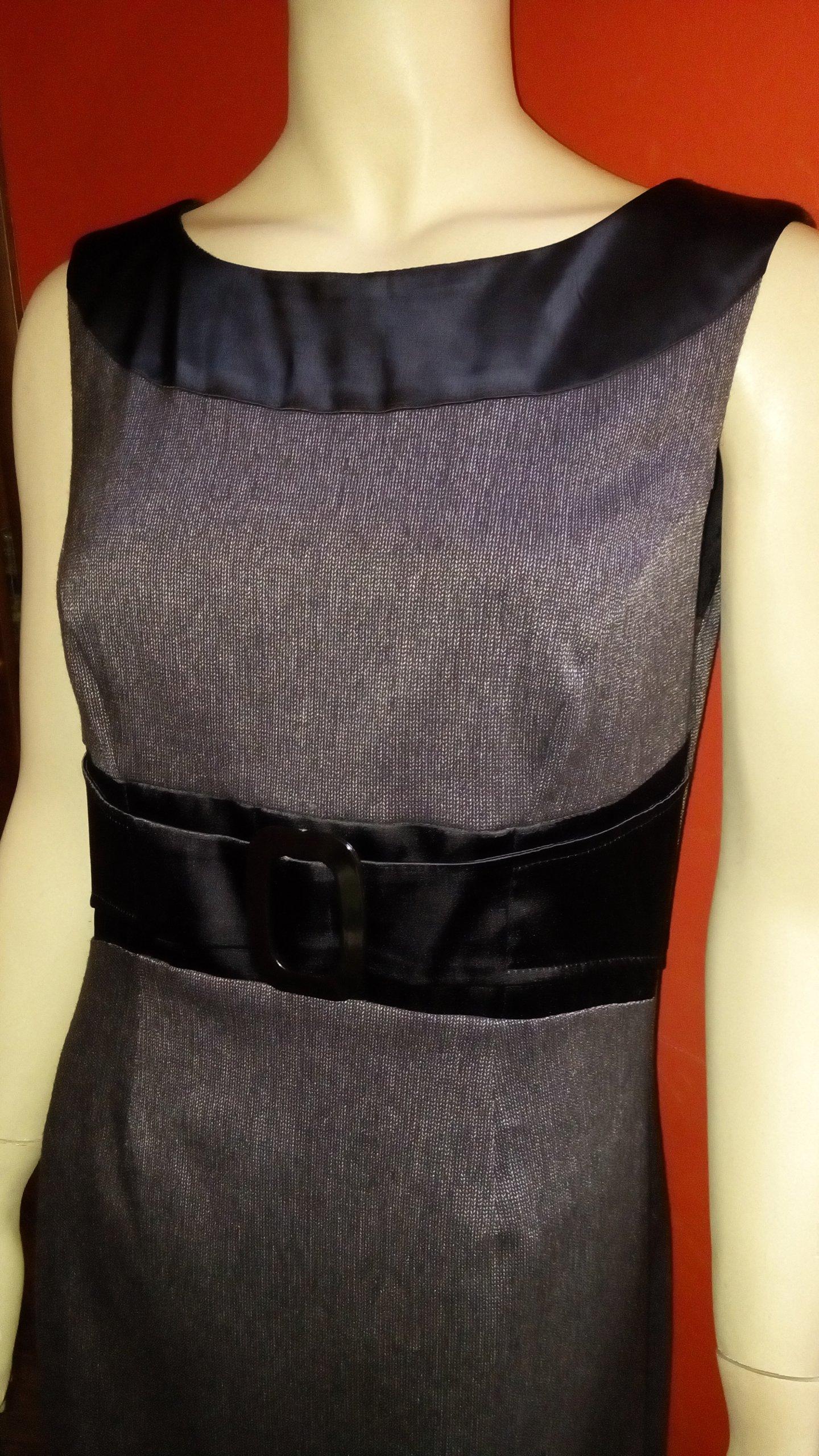 343be1181c MODERN LINE Elegancka szara sukienka biznesowa 40 - 7086989179 ...