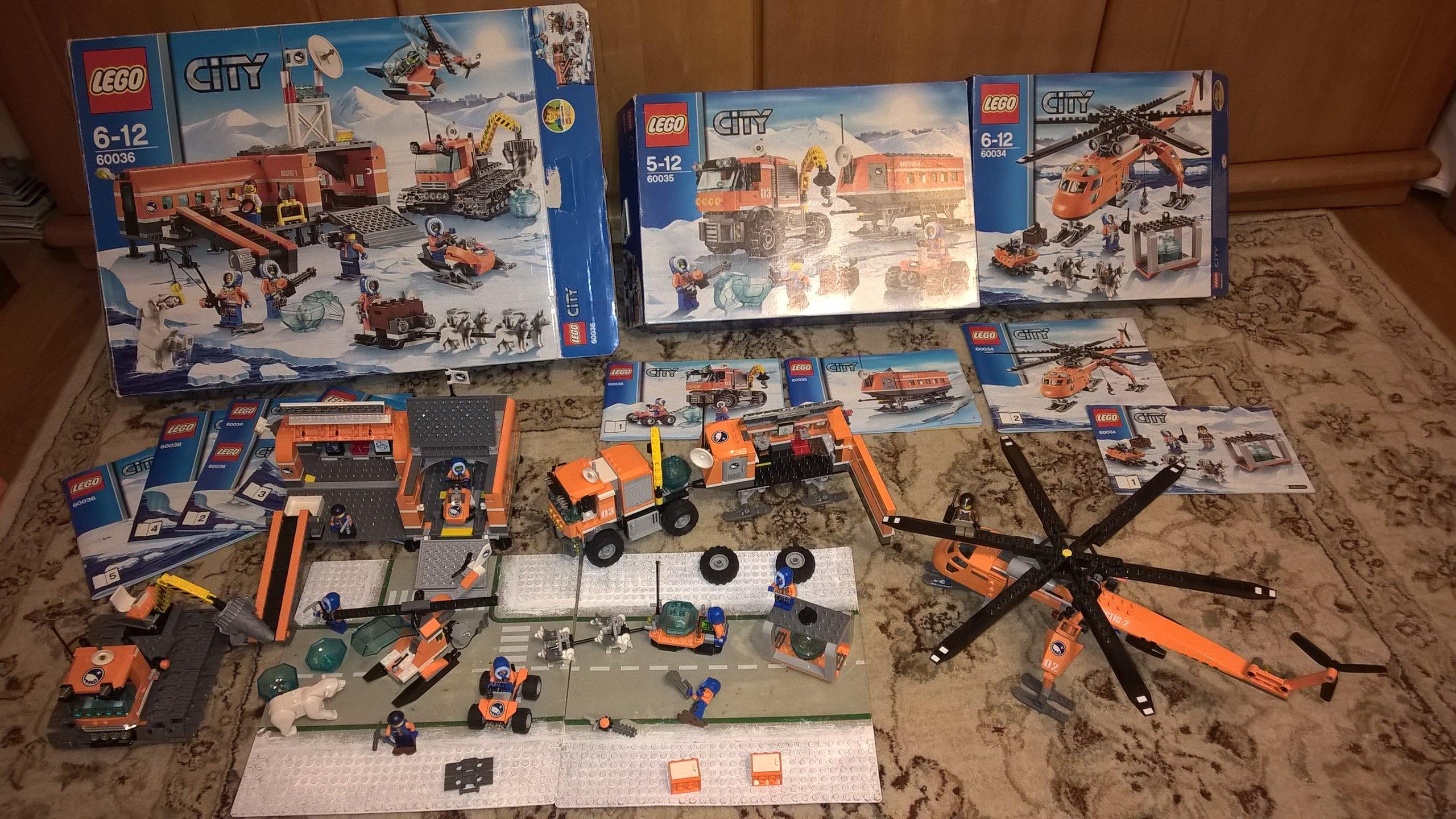 Lego Arktyka Mega Zestaw 60036 60035 60034 7180803065