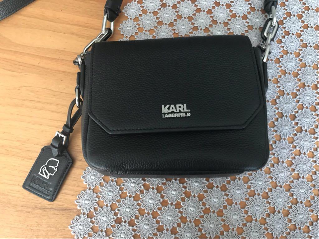 b4dbcaa148550 czarna elegancka torebka Karl Lagerfeld - 7339384885 - oficjalne ...
